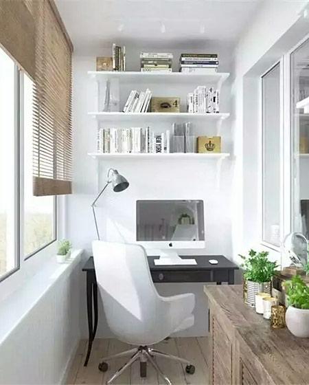 小户型阳台书房装修图