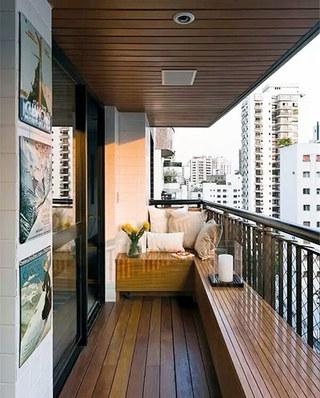 阳台木地板装修设计图