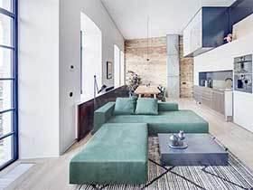 北欧风格不规则两居室图片  依旧风情万种