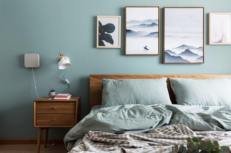 52平一室一厅装修卧室背景墙装修