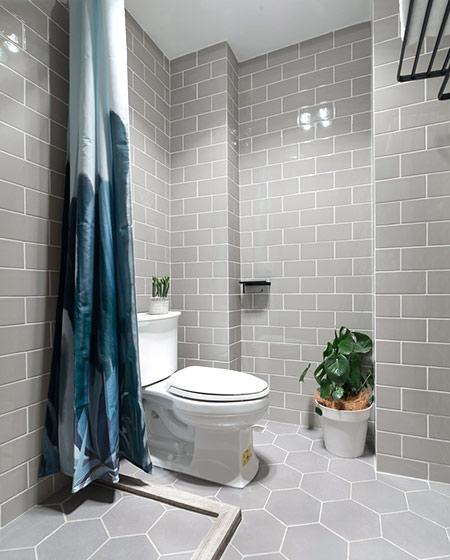 52平一室一厅装修卫生间设计