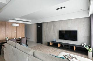 简约风格三居室装修电视背景墙装修
