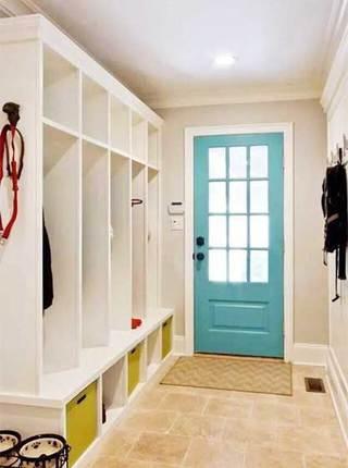 玄关鞋柜设计平面图片