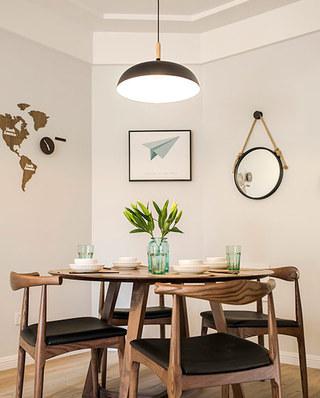 80平北欧风格三居餐厅效果图