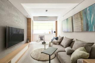 100平北欧风格装修三人沙发图片