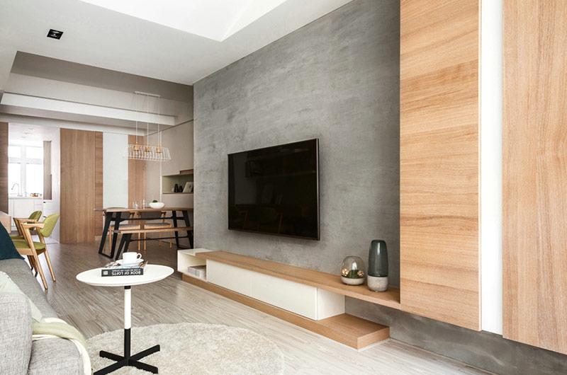 100平北欧风格装修电视背景墙装修