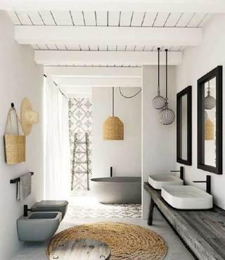 浴室布置装修构造图