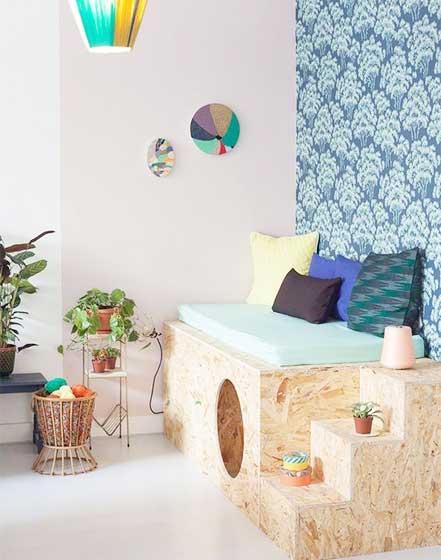 多彩儿童房卧室背景墙图片