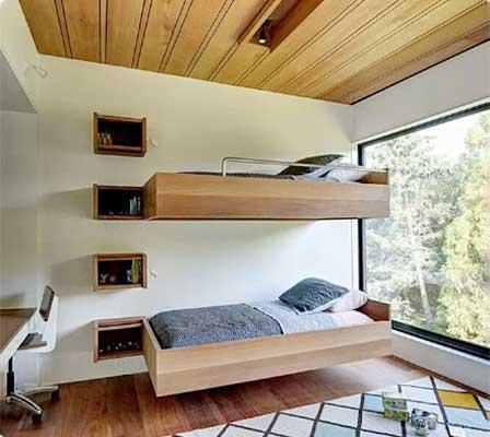 卧室高低床装修装饰图片