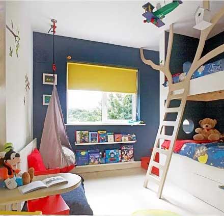 卧室高低床设计平面图