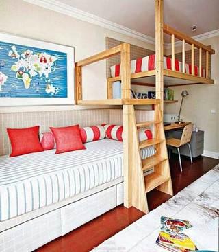 卧室高低床装修欣赏图