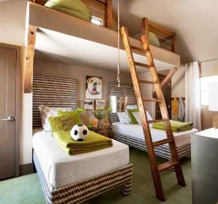 卧室高低床设计图片大全