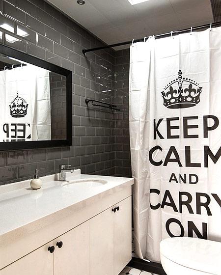 北欧风格浴帘效果图设计