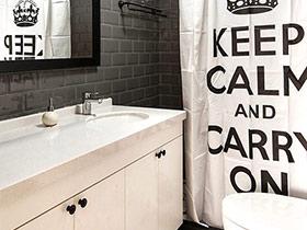 10款北欧风格卫生间浴帘效果图 美观又实惠