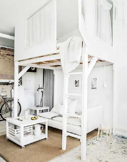 卧室高架床装修效果图
