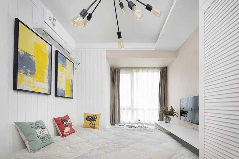 现代混搭风两居室卧室图片大全