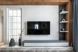 140平简约风格三居电视背景墙设计