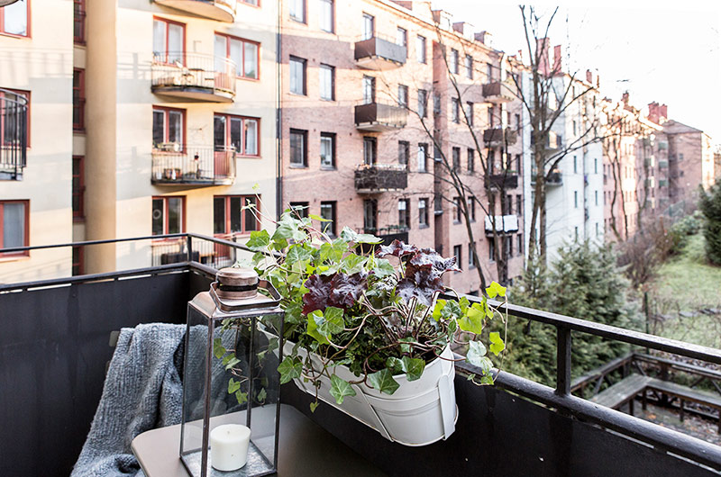 北欧风格一居室装修阳台设计装修