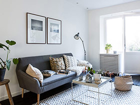 北欧风格小户型旧房改造装修 阳光让家新生