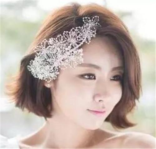短发新娘妆造型图片分享
