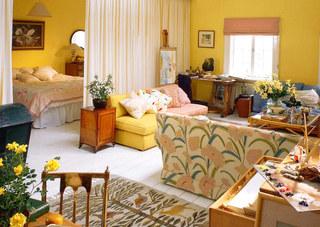 布帘隔断客厅卧室装修