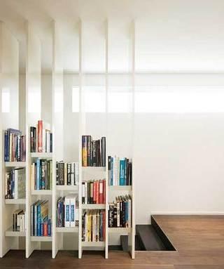 书架隔断设计实景图片
