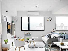 北欧风三居室公寓效果图  彩虹之家