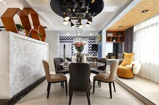 190平现代风格三居餐厅效果图