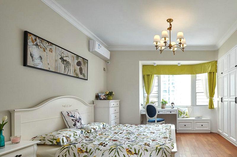140平美式风格二居主卧室装修