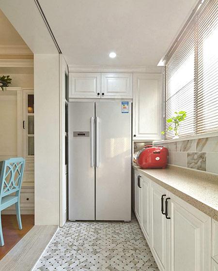 140平美式风格二居厨房地板瓷砖