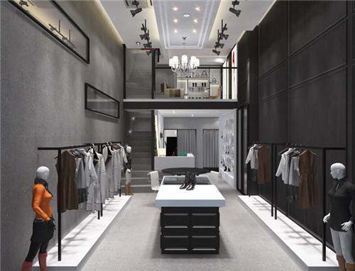 小型服装店室内装修效果图 2017服装店设计图片