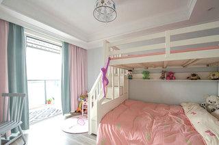 135平混搭风格公寓女孩房设计图