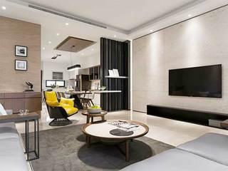 现代风格两居室电视背景墙图