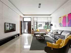 100㎡现代风格两居室效果图  文艺格调