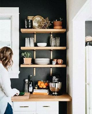厨房咖啡角置物架效果图