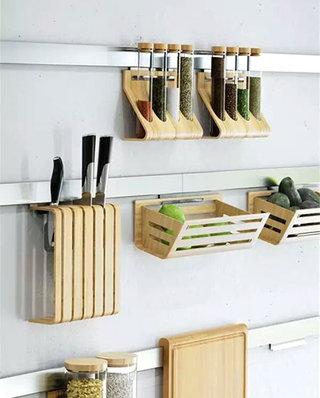 厨房装修墙面收纳图