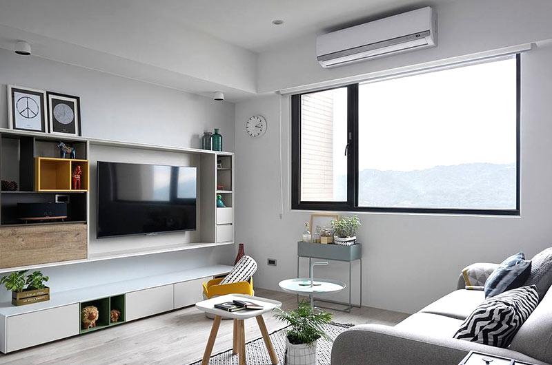 北欧风格婚房装修电视柜设计