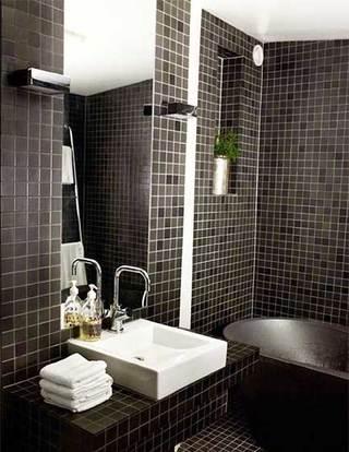 简约风小户型浴室构造图