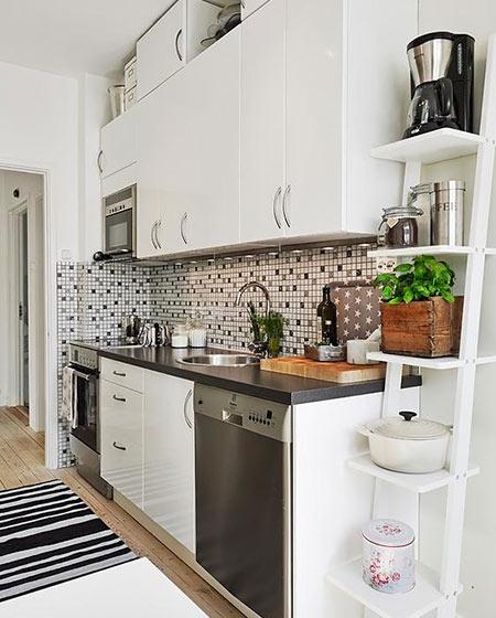 小户型白色厨房装修设计