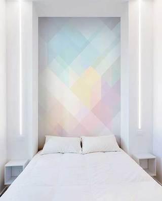 70㎡极简风卧室床头构造图