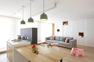 现代简约风格公寓吧台效果图