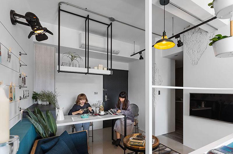 小户型loft装修客厅餐厅装饰
