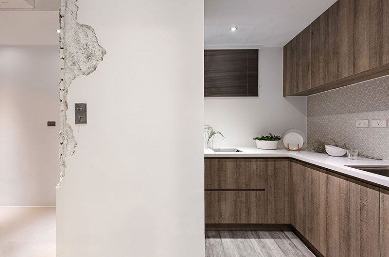 小户型loft装修厨房实景图