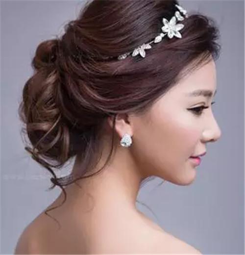 婚礼当天新娘新娘要打造2017完美发型发图片发型男生鹅蛋脸图片