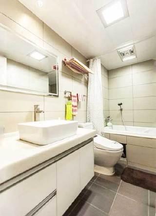 简约风浴室布置摆放图
