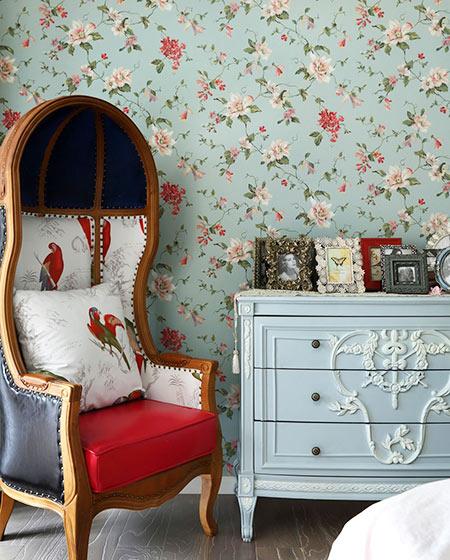 美式风格婚房装修休闲沙发图片