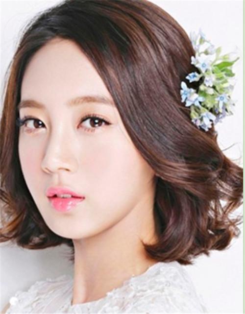 短发韩式新娘发型图片 短发怎么做新娘发型好看图片