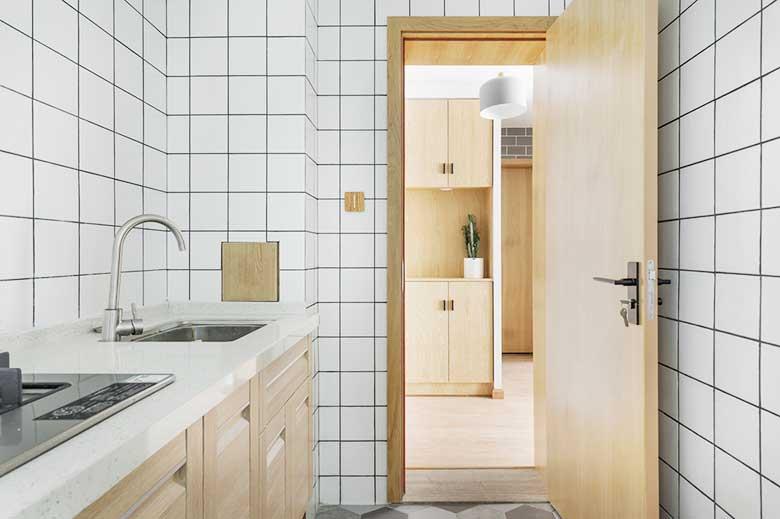 简约风单身公寓厨房欣赏图