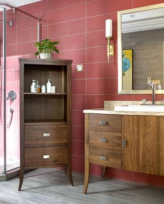 新古典风格复式楼浴室柜图片