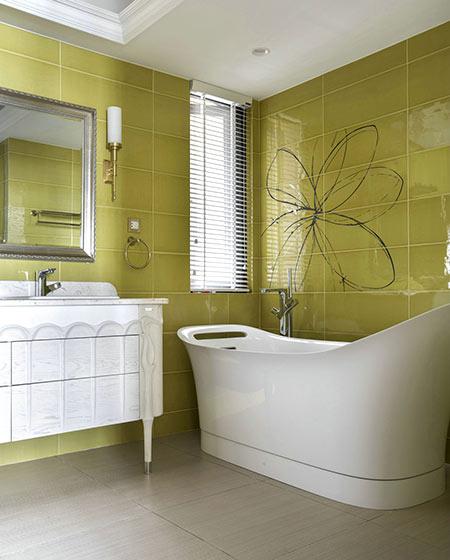 新古典风格复式楼浴室瓷砖装修